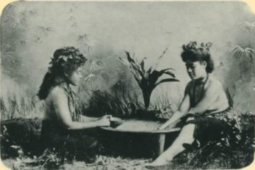 Young women preparing a kava drink circa 1904.