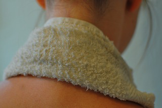 A towel soaked in herbal tea makes a great hot or cold compress.