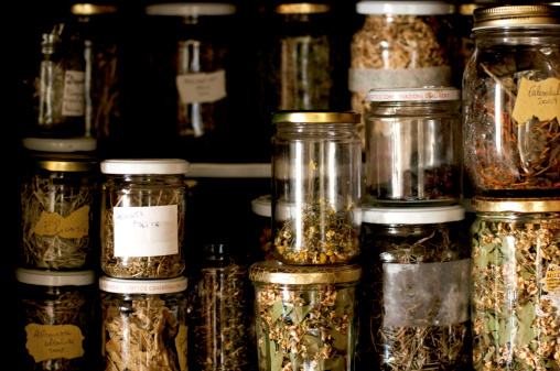 Store your herbs in well labelled jars in a cool, dry place.